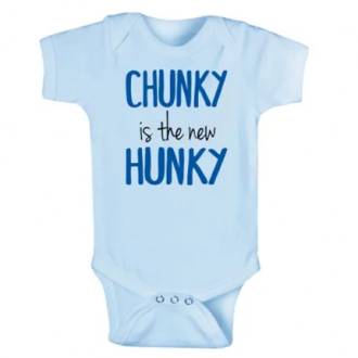 Chunky Is The New Hunky, Blue Onesie