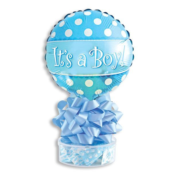 Its A Boy! Balloon Stand With Mints