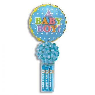 A Baby Boy! Balloon Stand With Bubble Gum Cigars