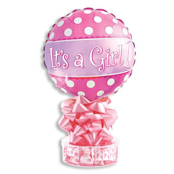 Its A Girl Balloon Stand With Mints